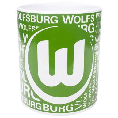 VfL Wolfsburg Tasse Schriftzug