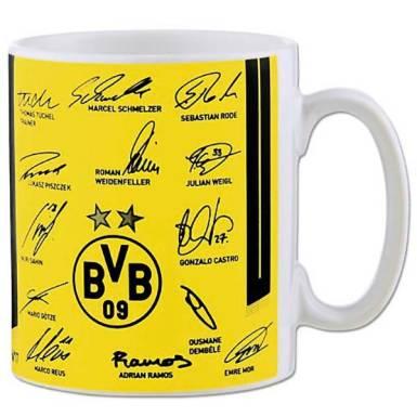 BVB Tasse Unterschriften
