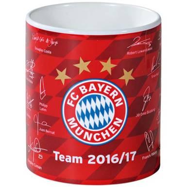 FC Bayern München Tasse Unterschriften