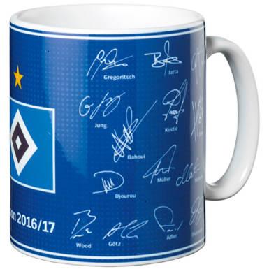 HSV Tasse Unterschriften 2016/2017