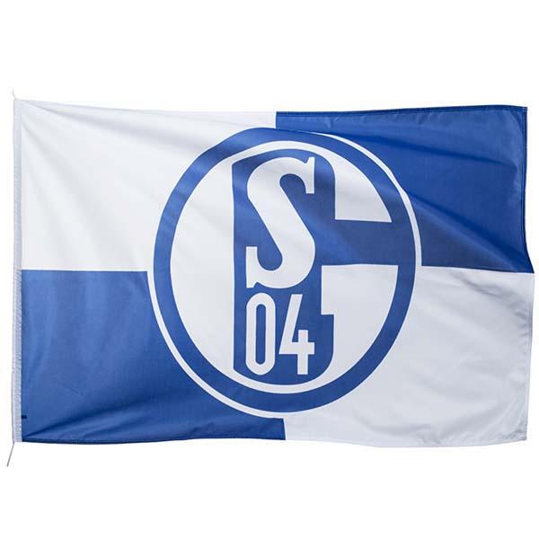 FC Schalke 04 Hissfahne Karo