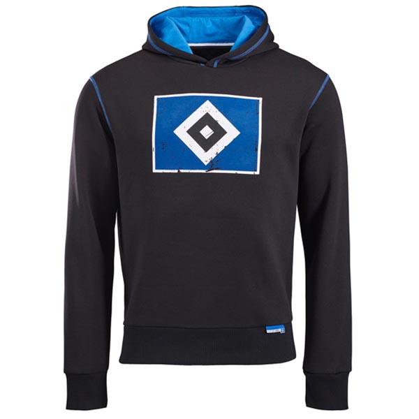 HSV Hoody Raute schwarz